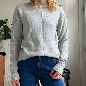 Club Monaco wool grey loose crew neck  sweater